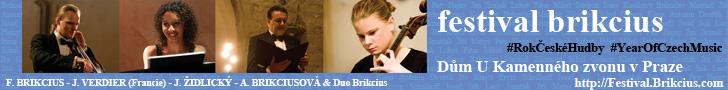 http://Festival.Brikcius.com - FESTIVAL BRIKCIUS - 3. ročn�k cyklu koncertů komorn� hudby v Domě U Kamenn�ho zvonu v Praze & Rok česk� hudby (podzim 2014)