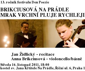"http://www.Brikcius.com - Anna Brikciusov�: Czech Cellist - Project ""Brikciusov� Na Pr�dle"" (Czech Cellist and Poet Anna Brikciusov�, Jan Židlick�, Czech poet Karel Hynek M�cha)"