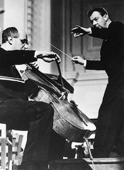 Mstislav Rostropovich - cellist & Benjamin Britten - conductor