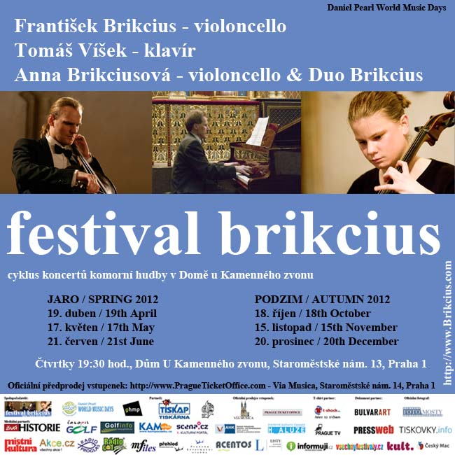 http://www.Brikcius.com - Festival Brikcius - the 1st chamber music concert series at the Stone Bell House in Prague (spring & autumn 2012)