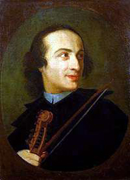 Giuseppe Tartini (*April 8, 1692 Piran/Istrie - †February 26, 1770 Padova)