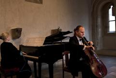 http://Festival.Brikcius.com - Festival Brikcius - the 2nd chamber music concert series at the Stone Bell House in Prague, spring & autumn 2013 (Polish pianist Milena Antoniewicz & Czech cellist František Brikcius). Photo Marek Malůšek.
