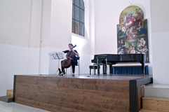 Czech Cellist Anna Brikciusová; concert ITALIAN BAROQUE MUSIC; Festival Brikcius 2015 - The 4th Chamber Music Concert Series at the Stone Bell House in Prague #Bach330. Photo: Alina Bogdana Mihai. http://Festival.Brikcius.com