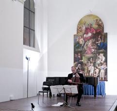 Two cellists, brother and sister Anna Brikciusová and František Brikcius (Duo Brikcius); cello concert DUO BRIKCIUS - ITALIAN BAROQUE MASTERS; Festival Brikcius 2015 - The 5th Chamber Music Concert Series in Prague. Photo: Alina Bogdana Mihai, http://Festival.Brikcius.com