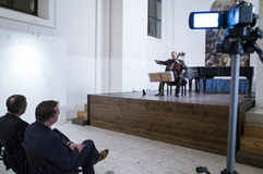 Český violoncellista František Brikcius; violoncellový koncert TARTINI: L'ARTE DELL'ARCO; Festival Brikcius - 6. ročník cyklu koncertů komorní hudby v Praze 2017. Foto: Alina Bogdana Mihai, http://Festival.Brikcius.com